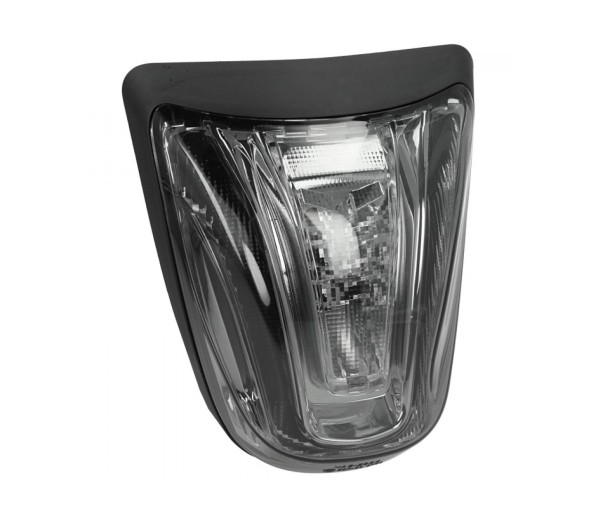 LED taillight black, E-approved for Vespa Primavera / Sprint